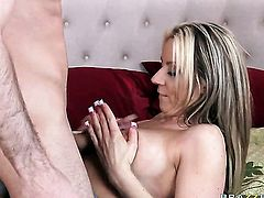Carolyn Reese with juicy tits gets a pussy slamming in steamy hardcore action with James Deen