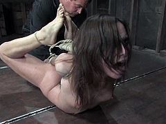 Amazing bondage porn video with Amber Rayne