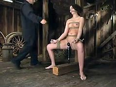 Wonderful bondage tortures for a petite hun Faith Leon