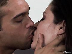 Alluring hussy Samantha Ryan asks Rocco Reed to shove his hard rod in her mouth