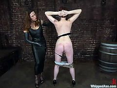 Rose gets her vag fingered and her ass spanked by Kym Wilde