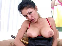 Needy milf goes deep in pure POV blowjob action with a tasty dick
