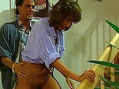 Adorable babes enjoying pure pleasure during intense vintage porn sessions