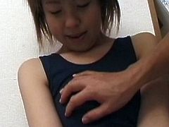 Sweet japanese teen lets her partner to pinch and rub her needy forms