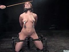 Sexy bitch Dana Dearmond lets some guy immobilize her in a basement. Then the man pokes his schlong into Dana's mouth and enjoys it much.