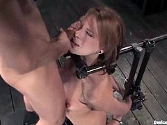 Dana Dearmond gets mouth-fucked in amazing BDSM clip