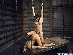 DragonLily gets her pussy tortured with electricity by Sandra Romain