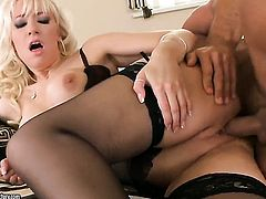 Blonde hoochie Karlie Simon gets fucked on camera for your viewing entertainment