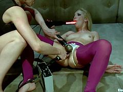 See the hot toying and pussy torture with electrical devices Lorelei Lee is giving Ashley Fires in this lesbian femdom video.