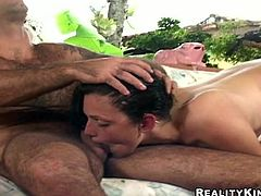 Check out this hot clip where this mami ends up with a messy facial after she's nailed by this guy's hard cock in this hardcore video.