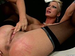 One nasty lesbian punishes another one. She ins her breasts and pussy and spanks her without mercy. Don't skip exciting lesbian bdsm sex movie for free.