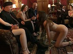 Kinky Seda gets spanked, toyed and fucked in public