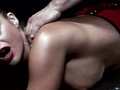 Provocative seductress in sexy corset gets her anal hole slammed hard. Enjoy watching Harmony Vision sex tube video right here and right now.