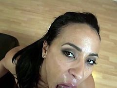 Amazing latin milf gets POV facial cumshot