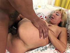 As she felt really horny her friend decided to please her while they were in his bedroom,all by themselves.She enjoyed his large and fat cock sticked inher wet pussy,watch her screaming loud in Fame Digital sex clips.