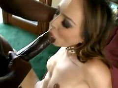 What an amazing and sizzling honey is performing in a wild interracial! She gets that dick in her mouth and in her wet cunt soon!