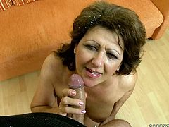 Naughty mature brunette spreads her legs wide open and sex machine fucks her hairy pussy. Don't skip this exciting 21 Sextury porn tube video for free.