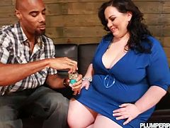 Notorious BBW Glory Foxxx fucked by black cock. Although that is one huge cock, it is still no match with her massive greasy pussy in this nasty interracial injection encounter.