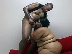 Brunette fatty serves huge black cock deep inside her cum craving throat and greasy pussy. She is big enough to satisfy all of your cravings and today is no different. She is not shy to use her body for some hardcore pounding encounter.