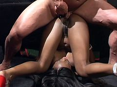 Oh, man this sizzling and horny ebony babe Jada Fire is ready for every perversion! She blows him hot and gets her asshole pumped.