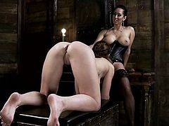 See the anal strapon fucking Audrey Rose gets from Isis Love in this hot and kinky lesbian femdom video.
