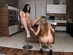 Brunette has lesbian sex of her lifetime with Leyla Black
