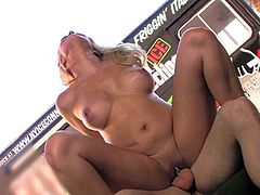 Busty Alane Evans fucks with Mark Zane