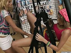 Latina Prinzzess Sahara with juicy bottom is in heaven doing it with horny lesbian Nikki Brooks