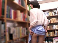 Ready to feel what it is to bang a delicious Japanese sex doll in the library? Well, then this POV scene is going to make you happy!