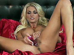 Alicia Secrets strips and plays with herself for your viewing pleasure