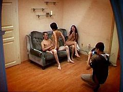 This spy camera caught some very steamy action last night. It caught on film two teens living out their wildest threesome fantasy with one very lucky stud. They let his friend film it all, but they had no idea that there was another camera also recording the action. The video from that hidden camera ended up on the Teen Sex Reality website for us to enjoy. I think if these teens thought that this video was going to end up in public, they would`ve never acted so dirty and slutty like they did last night.