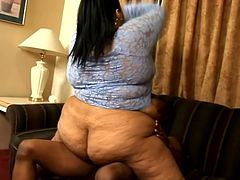 She is fat and her ass is huge but her face is lovely and this fucker can not wait to place his long prick inside of her tight vagina.