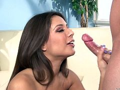 Sexy brown-haired bitch Jynx Maze shows her asshole to some bald dude and allows him to play with it. Then the dude licks the butt passionately and tears it up with his weiner.