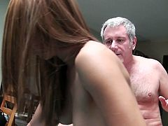Watch this old perverted jerk having goog time fucking sexy and hot Serena on pool table in his house in Mofos sex clips.