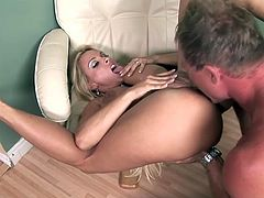 What a charming and sizzling blond milf Holly is! Her tits are so good and her sexy eyes are luring you to watch this outstanding porn!