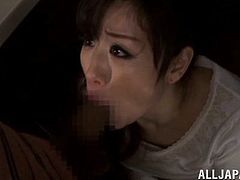 After dinner Yuu Kawakami was ready to go wild and get kinky with this guy who fingered her pussy before she sucked his cock behind the counter.