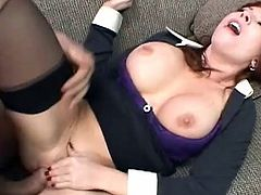 Big tits mom Brittany Oconnell loves having her juicy twat fucked for money
