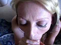 Here is a pretty sexy video as a hot blonde with a tongue piercing who is using the opportunity to show off her wicked blowjob skills.