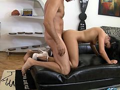 We got some hot missionary sex in this video as a cute brunette has her pussy stuffed full of cock and then she sucks him off.