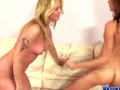 You gotta love when lustful lesbians tease each other tenderly and sensually. Check out this hot sex video now to see what else these hot chicks are up to.