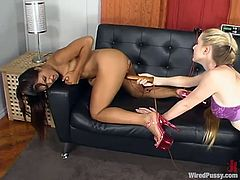 Lyla Lei is the exotic babe getting toyed and teased with other kinky devices in this BDSM lesbian video packed with naughty action.