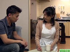 Japanese Matures bring you a hell of a free porn video where the alluring brunette Japanese milf chick Eriko Miura gets banged hard into kingdom come after blowing her man's cock.