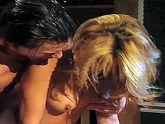 Famous one and only blonde porn queen Jill Kelly with smoking hot body fucks her experienced partner in arousing fantasy and waits for him to cum with mouth open wide.