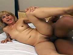 A mature blonde slut is going to have the best day ever when she finally fulfills her fantasy of being fucked by a big black cock.