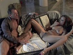 Annie Cruz is a smoking hot mixed race chick with pierced pussy. She rides stiff cock like theres no tomorrow but cant get enough. Watch her bounce on his meat pole like crazy!