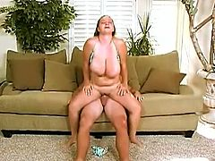Check out this sexy plumper showing off her huge juggs in the car and beggind for some hardcore pounding. Her fat cunt got stuffed with a big cock and she swallows the jizzload!