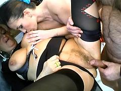 Christina and Silvia prove that they are really shameless. The granny and the girl show their cock-sucking skills to some dude and then allow him to drill their juicy pussies.
