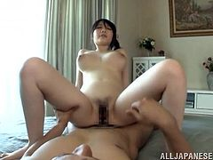 Divine Japanese milf is going to have so much fun on that huge cock! She is crazy and she is gonna love that thick dick!
