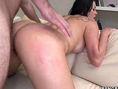 Wath this hottie enjoying thet finger drill of her wet pussy while she sucks her friend's cock in Bang Bros Network sex clips.