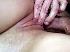 Macy Cartel gets her shaved pussy drilled in pure hardcore and filled with cum